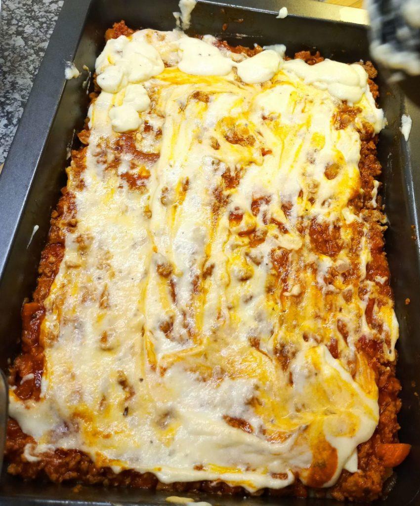 béchamel on lasagne