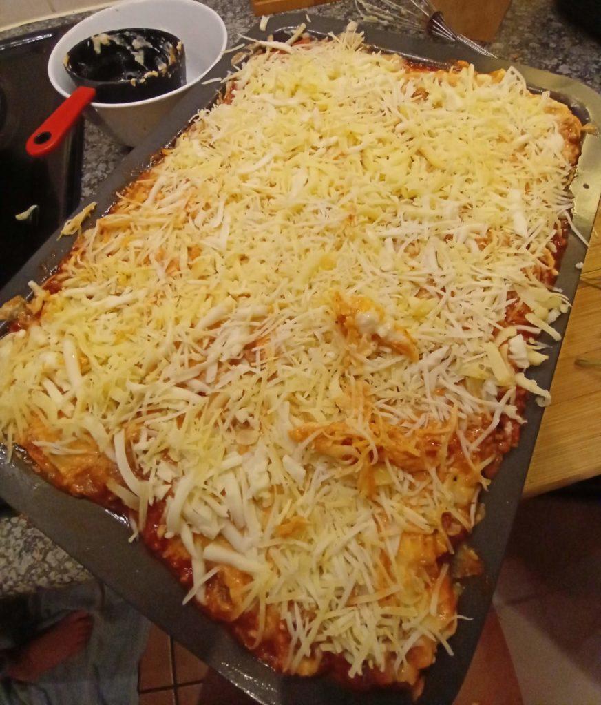 prepared lasagne